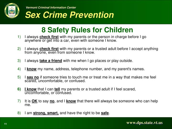 8 Safety Rules for Children