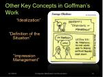 other key concepts in goffman s work