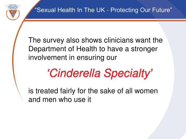 The survey also shows clinicians want the Department of Health to have a stronger involvement in ensuring our