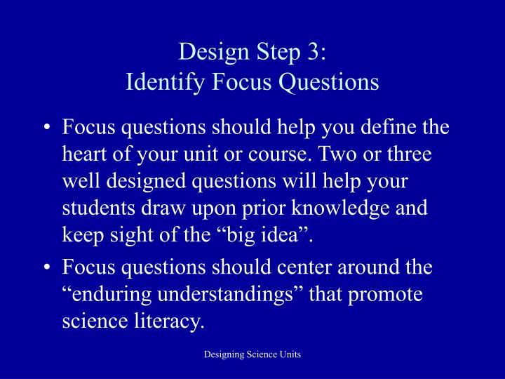 Design Step 3:
