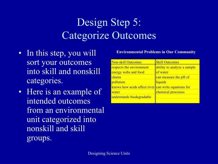 Design Step 5: