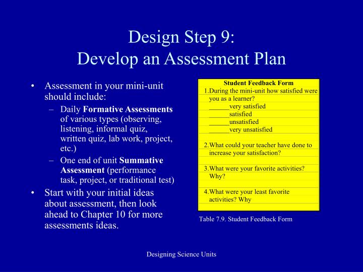 Design Step 9: