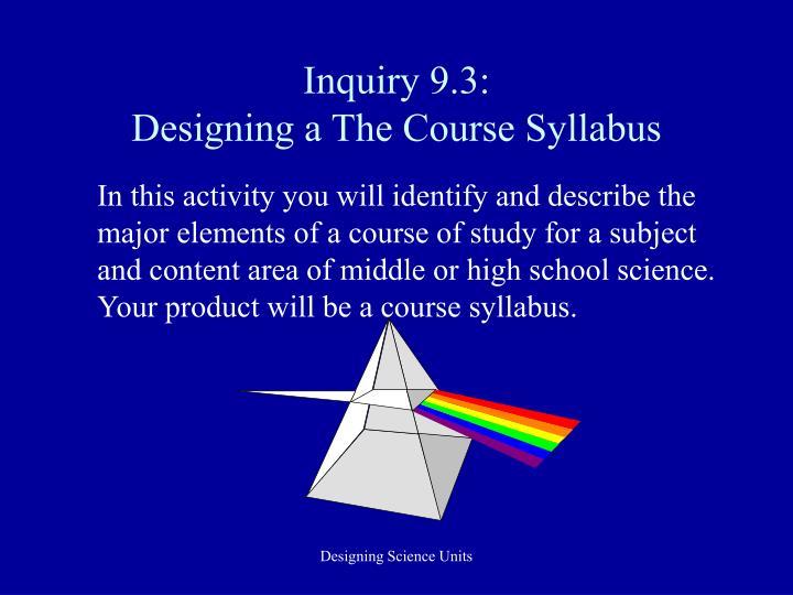 Inquiry 9.3: