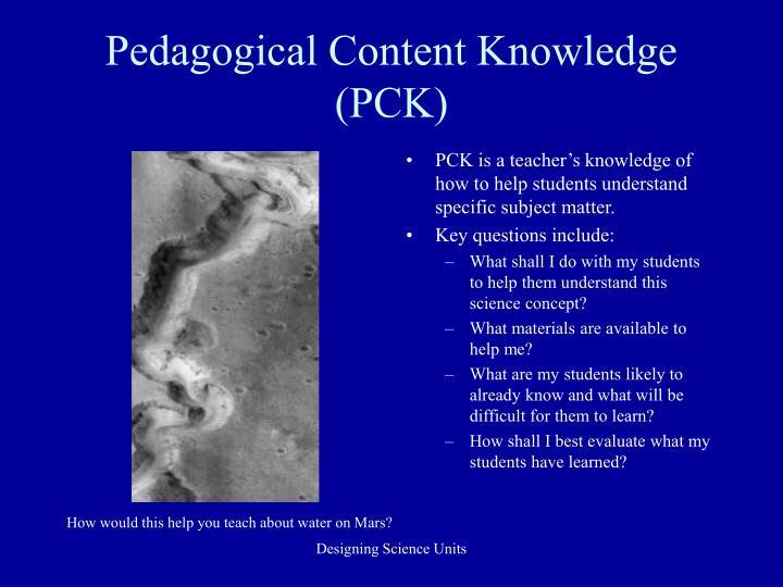 Pedagogical Content Knowledge