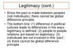 legitimacy cont