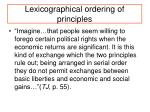 lexicographical ordering of principles
