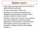statism cont