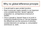 why no global difference principle