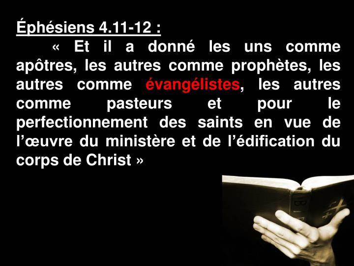 Éphésiens 4.11-12:
