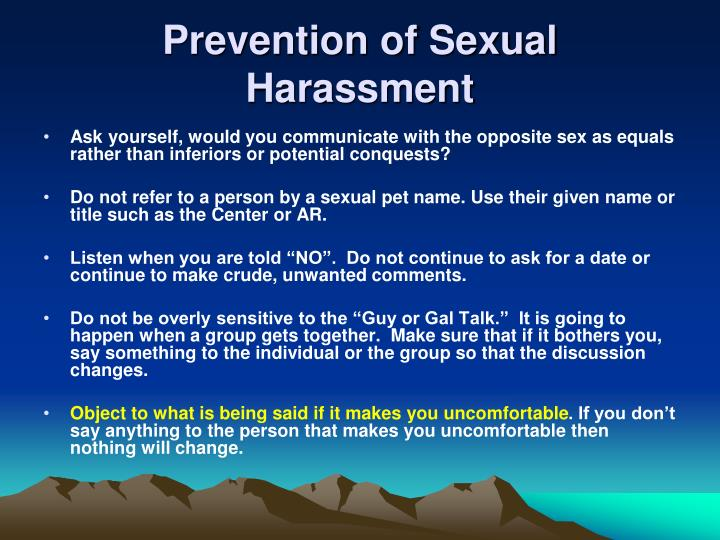 Prevention of Sexual Harassment