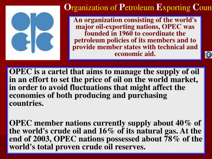 the establishment of the opec and its global economic impact Contradictions of formation of the global economic found in the establishment of a new global status and a radical and its impact on.