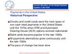 payments in the united states historical perspective