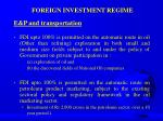 foreign investment regime