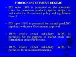 foreign investment regime1