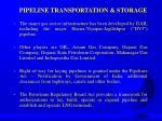 pipeline transportation storage