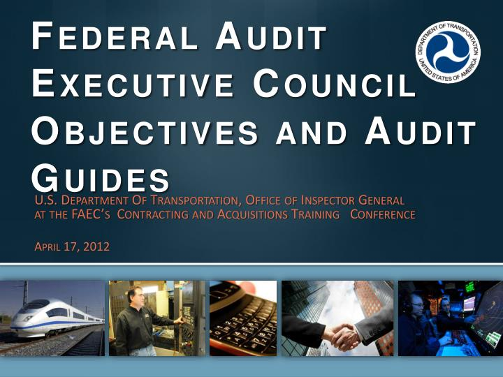 federal audit executive council objectives and audit guides n.