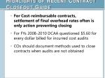 highlights of recent contract closeout guide4