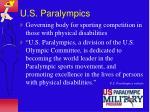 u s paralympics