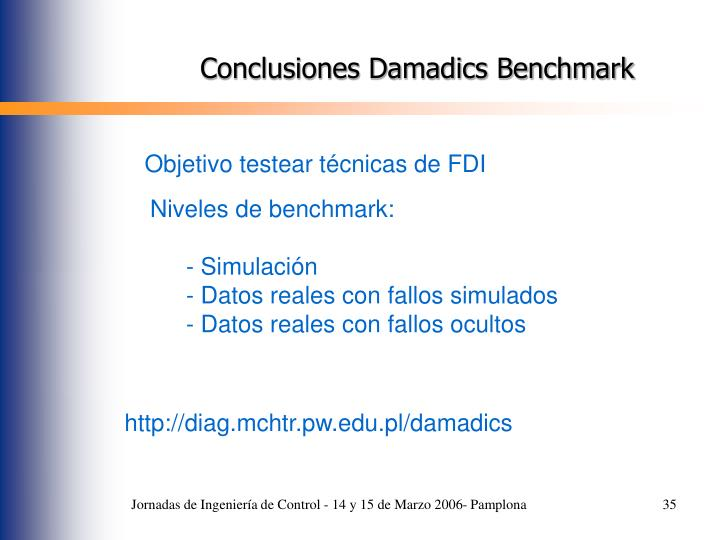 Conclusiones Damadics Benchmark