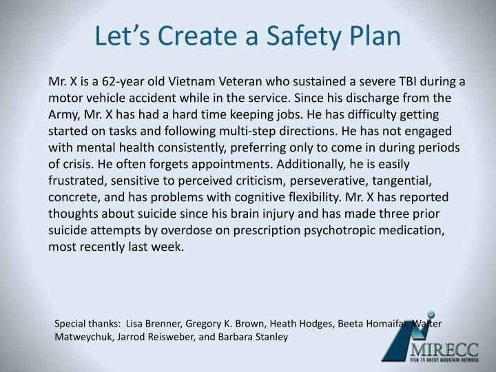 Let's Create a Safety Plan