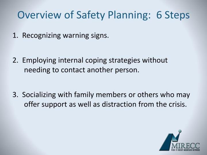 Overview of Safety Planning:  6 Steps