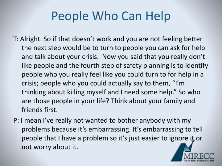 People Who Can Help