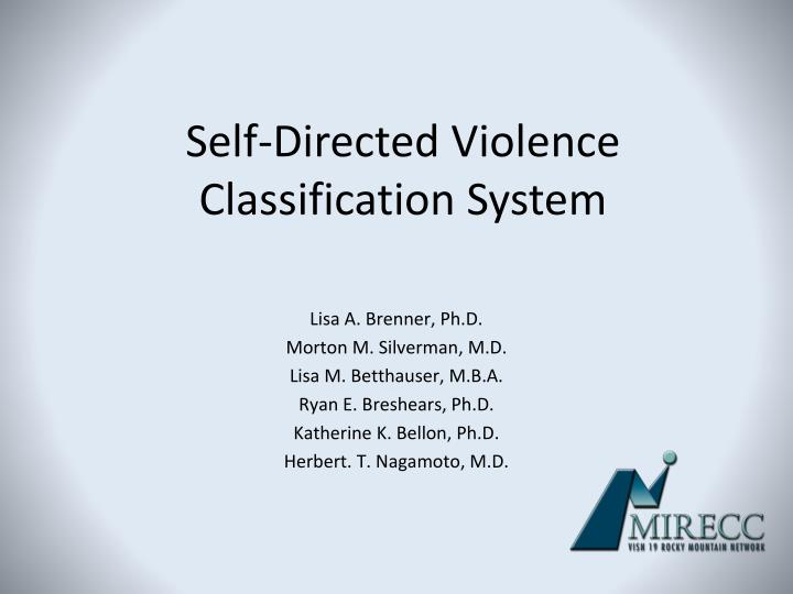 Self-Directed Violence
