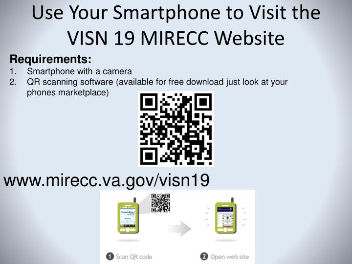 Use Your Smartphone to Visit the VISN 19 MIRECC Website