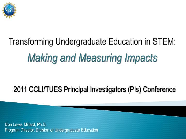 transforming undergraduate education in stem making and measuring impacts n.