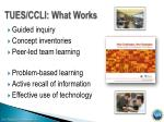 tues ccli what works