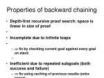 properties of backward chaining