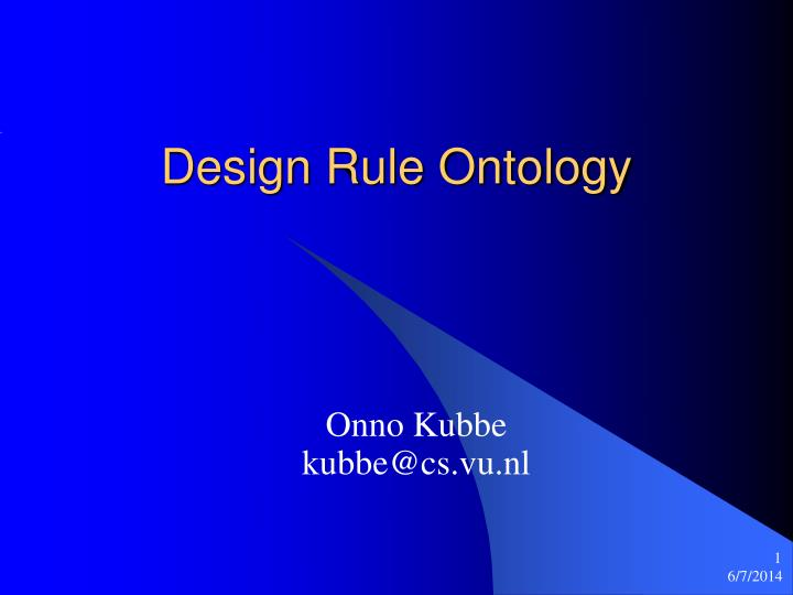 design rule ontology
