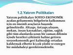 1 2 yat r m politikalar