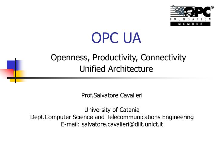 opc ua openness productivity connectivity unified architecture n.