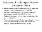 indicators of trade regionalisation the case of africa