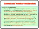 economic and technical considerations1