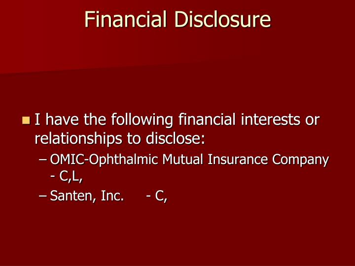 financial disclosure n.