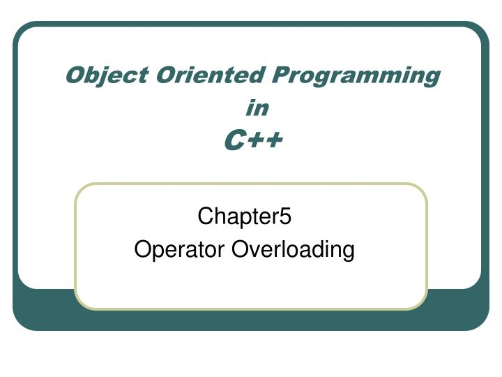 object oriented programming in c n.
