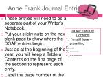 anne frank journal entries