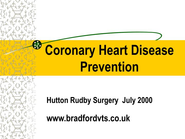 coronary heart disease prevention n.