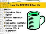 how the nsf will affect us