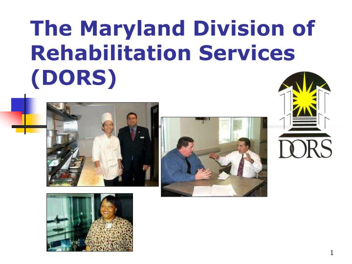 the maryland division of rehabilitation services dors n.