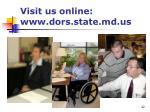 visit us online www dors state md us