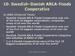 10 swedish danish arla foods cooperative