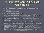 14 the economic role of copa in eu