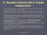 9 swedish danish arla foods cooperative