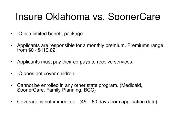Insure oklahoma vs soonercare