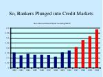 so bankers plunged into credit markets
