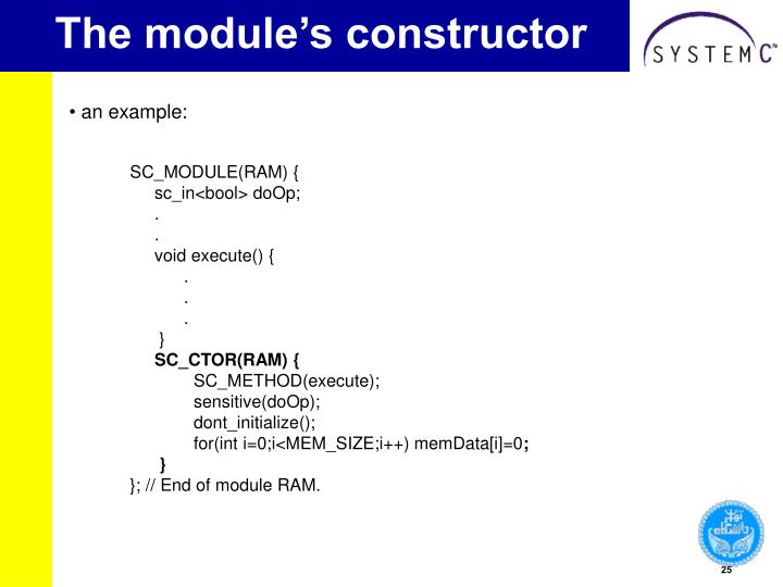 The module's constructor