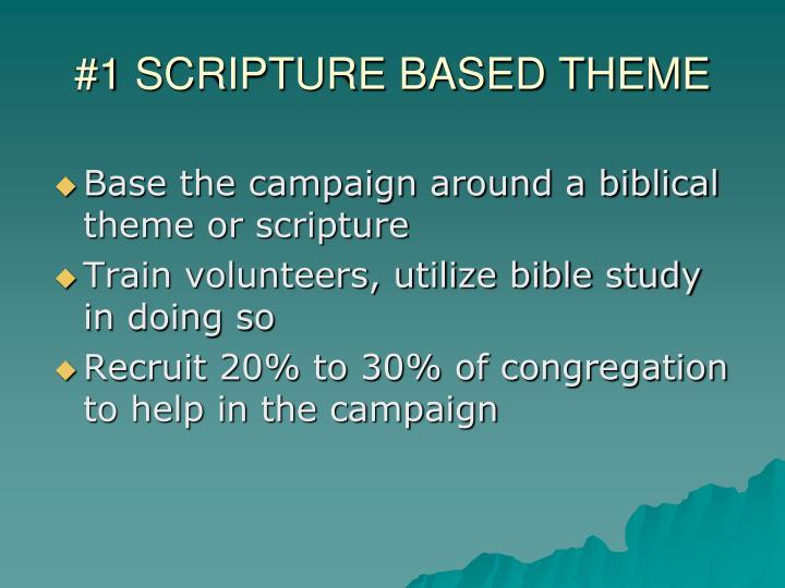 #1 SCRIPTURE BASED THEME